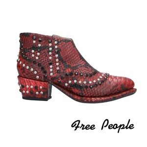 FREE PEOPLE Western Style Studded Ankle Boots